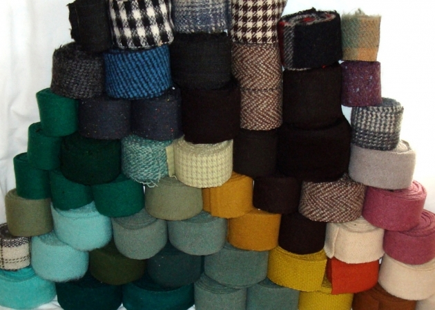 Vintage Wool Strips Rug Braiding Supplies Picture 80