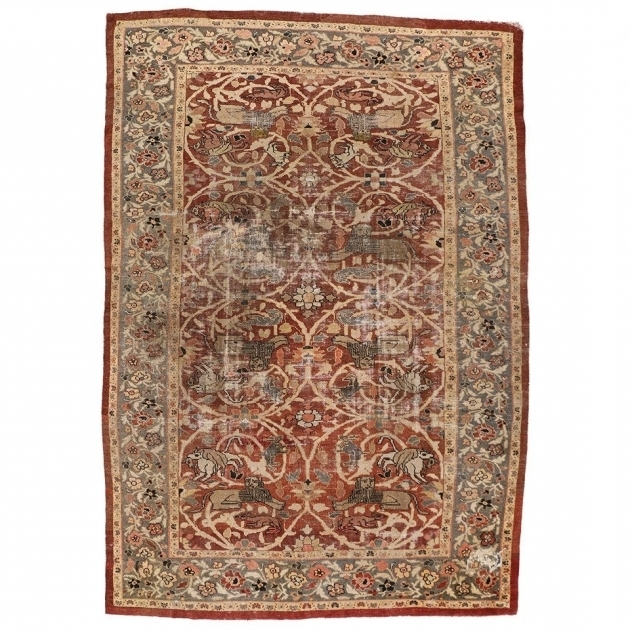 Antique Distressed Persian Rug Sultanabad Rugs Images 44