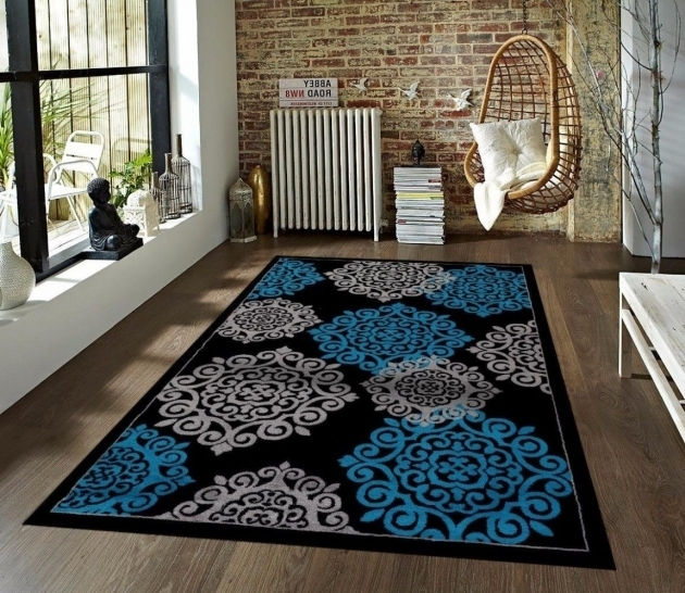 Beautiful Large Throw Rugs On A Budget Under 150 Turquoise Gray Black 710x102 Image 20