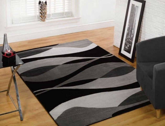 Black And White Rug 5x7 Large Area Rugs Under 100 Modern Multicolor Abstract Rugs Pictures 75