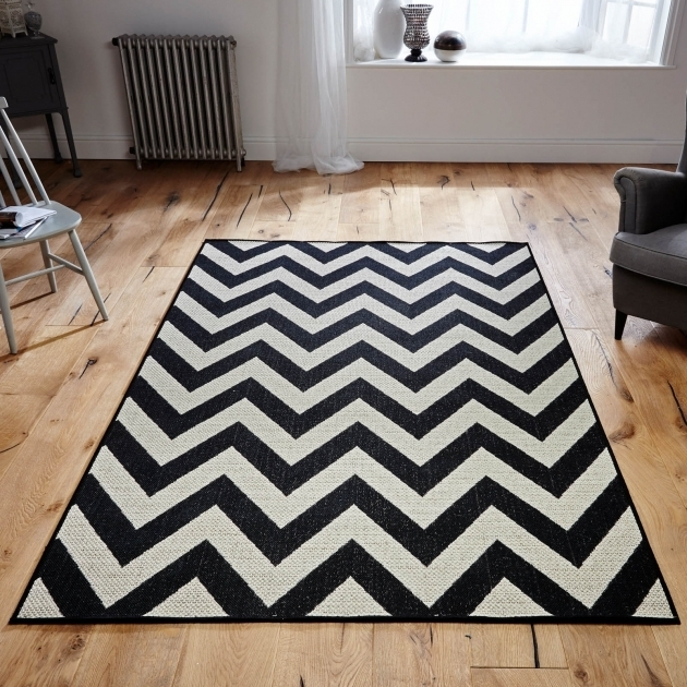 Black Chevron Runner Rug Photo 40