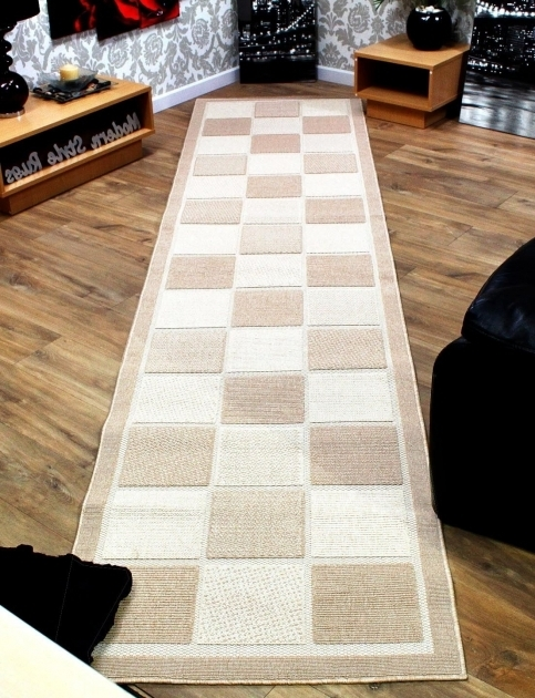 Brown Or Cream Extra Long Runner Rug Hallway Images 03