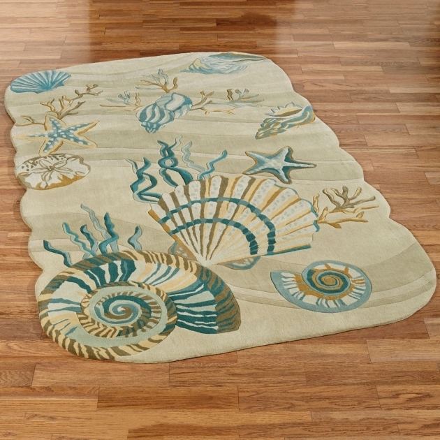 Coastal Runner Rugs Dream Seashell Area Rug Picture 10