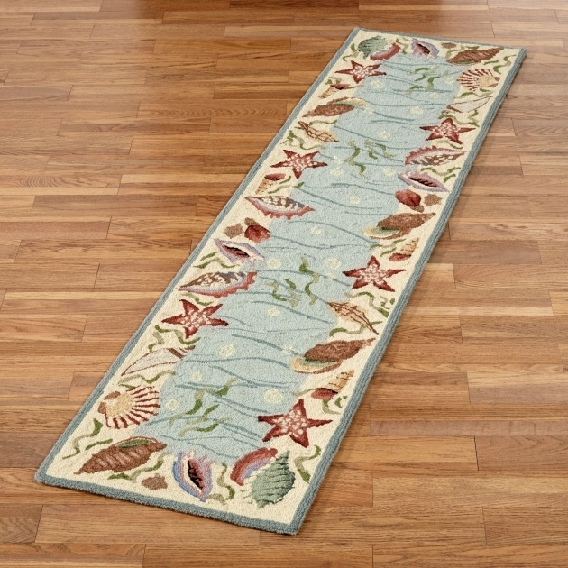 Coastal Runner Rugs Ocean Surprise Seashell Rug Runner Photo 50