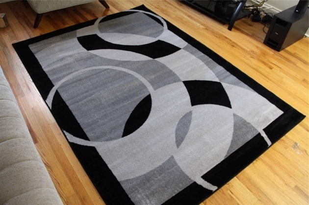 Contemporary Black And Gray Large Area Rugs Under $200 For Living Room On Hardwood Floor Photos 25