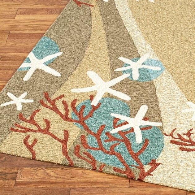 Coral Waves Coastal Runner Rugs Indoor Outdoor Rug Images 72