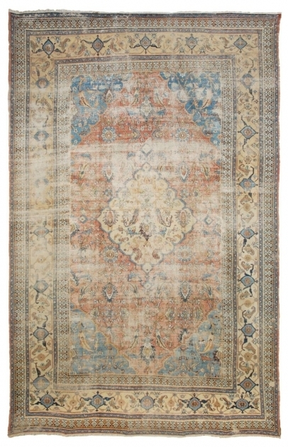 Distressed Persian Rug Woven Accents Photo 87