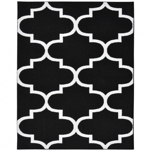 Garland Large Black And White Rug Quatrefoil Blackwhite 8ft X 10ft Area Rug Image 97
