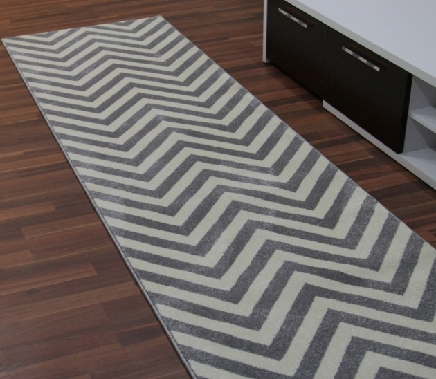 Gray Chevron Runner Rug Images 10