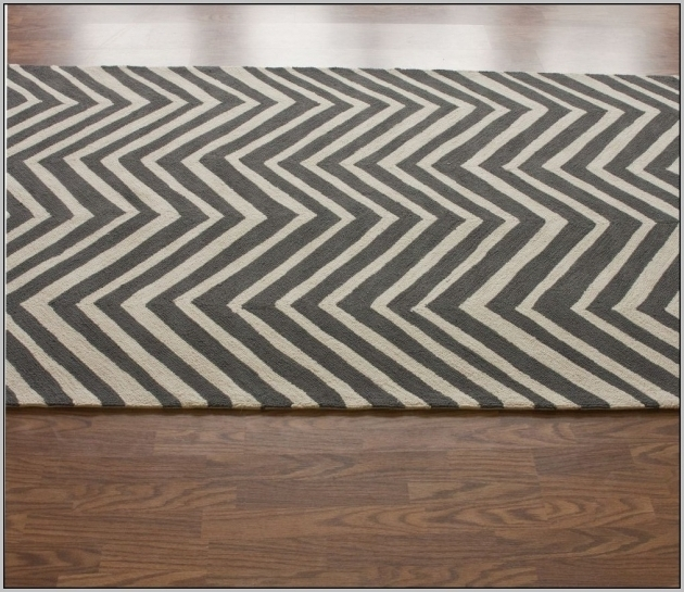 Grey Chevron Runner Rug Photo 39