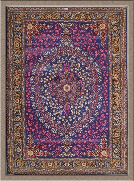 Kashan Purple Persian Rug Firm Handmade Oriental Photo 59