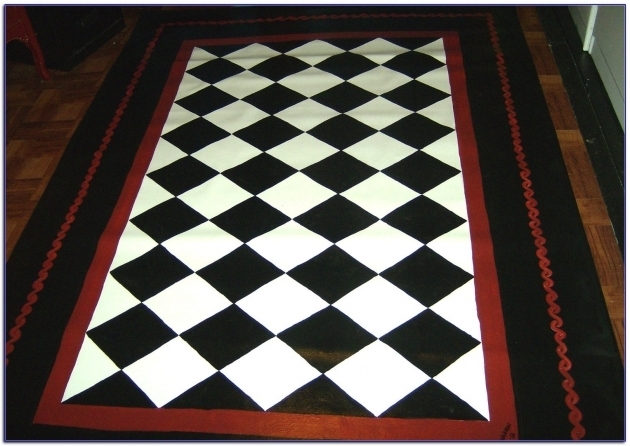 Large Black And White Rug Checkered Interior/outdoor Rug Ideas  Photo 60