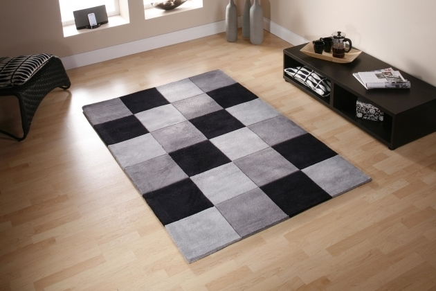 Large Black And White Rug Checkered Rug Runner Image 22