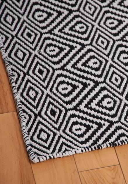 Large Black And White Rug Wild Diamond Eco Cotton Rug Images 22