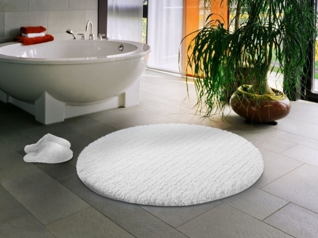 Large Round White Bathroom Rugs With Rubber Backing Image 91