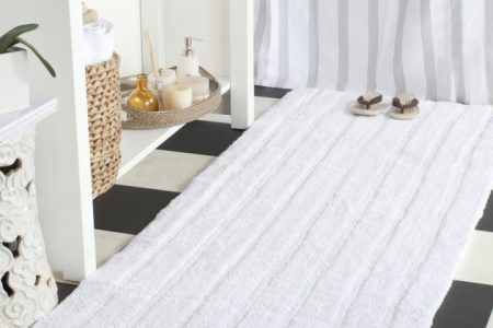 Large White Bathroom Rugs