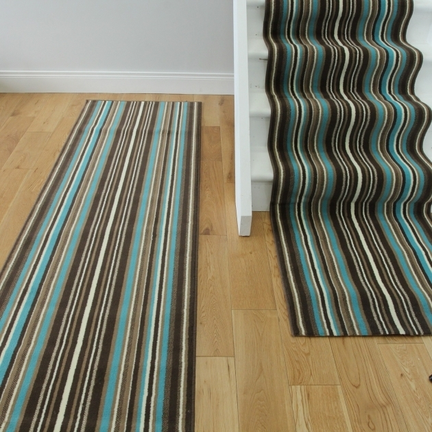 Lima Teal Rug Runner Choco Modern Stair Carpet Pictures 60