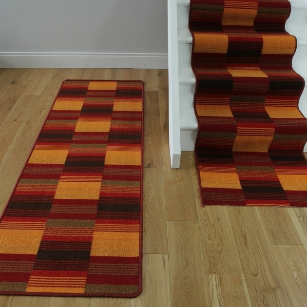 Luna Tv Red Modern Washable Rug Runners Stair Carpet Room  Photos 94