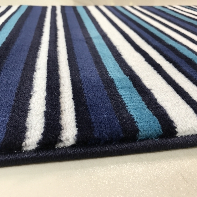 Modern Blue Teal Rug Runner And White Striped Hallway Runner Rug Sardinia Images 23