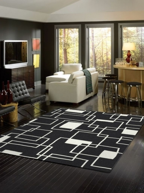 Modern Large Black And White Rug Clearance Cheap Photo 00