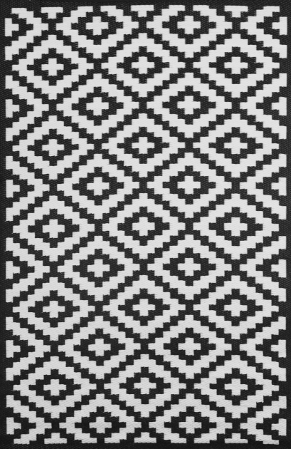 Nirvana Large Black And White Rug Decor Images 09