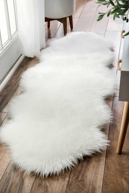 Nuloom Fluffy Terrell Solid Large Faux Sheepskin Rug Photos 12