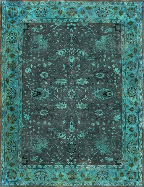 Overdyed Persian Rugs Brown Light Green Rug Od12228 Pictures 57