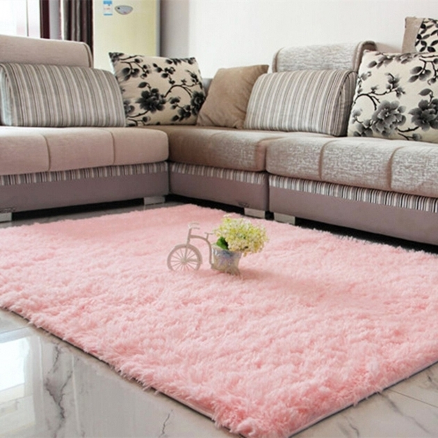Pink Large Shag Area Rugs Fluffy Anti Skid Floor Mat Plush Photo 48