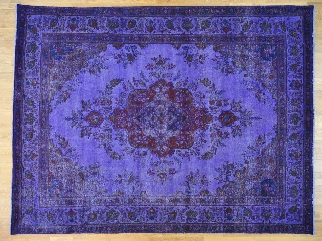 Purple Overdyed Persian Rugs Tabriz Hand Knotted Oriental Rug Images 30