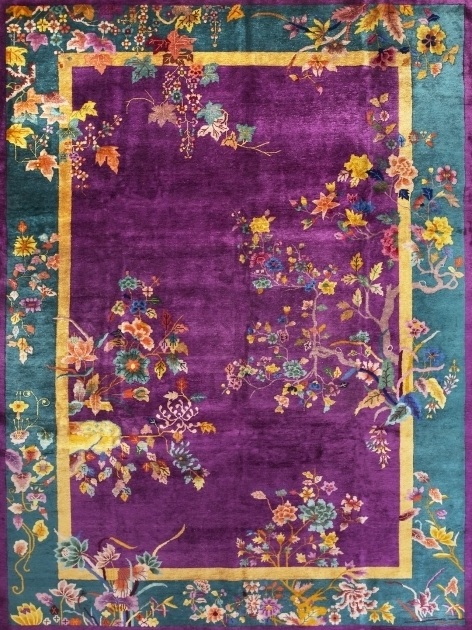 Purple Persian Rug Carpets Art Deco Photo 24