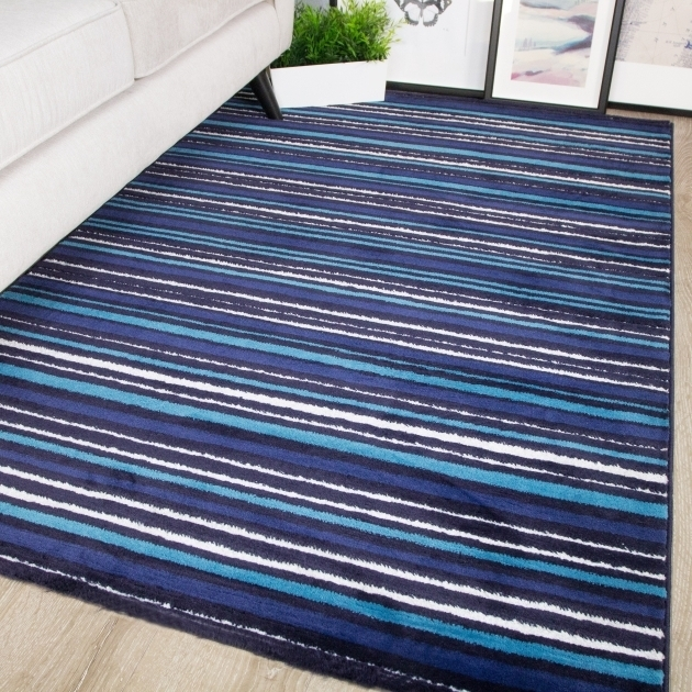 Sardinia Stripe Teal Rug Runner Photos 95