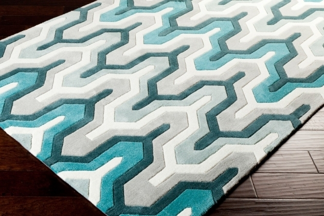 Surya Teal Rug Runner Photos 39