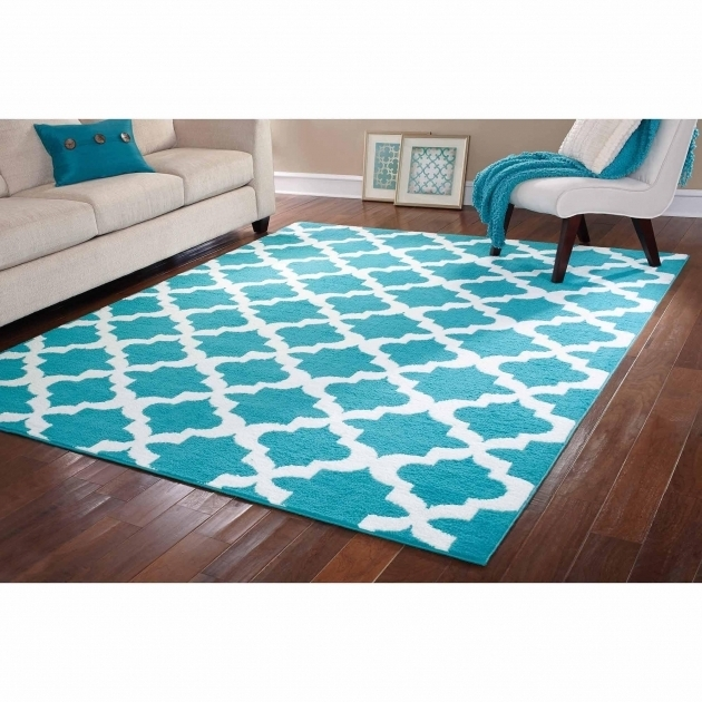 Teal And White Large Area Rugs Under $200 Image 27