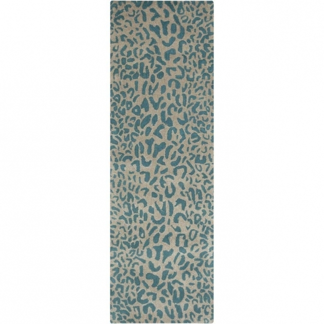 Teal Rug Runner Bicauri 3ft X 12ft Indoor Rug Photo 62