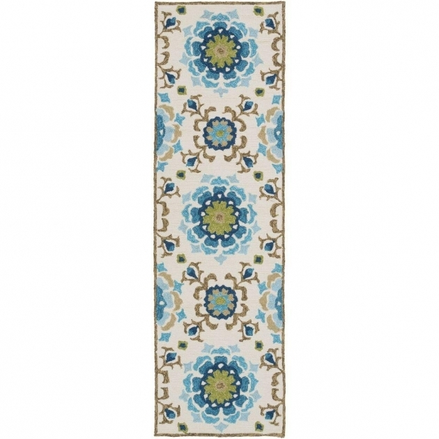 Teal Rug Runner Duvalia Teal 2ft 6in X 8ft Indoor Outdoor Photo 55