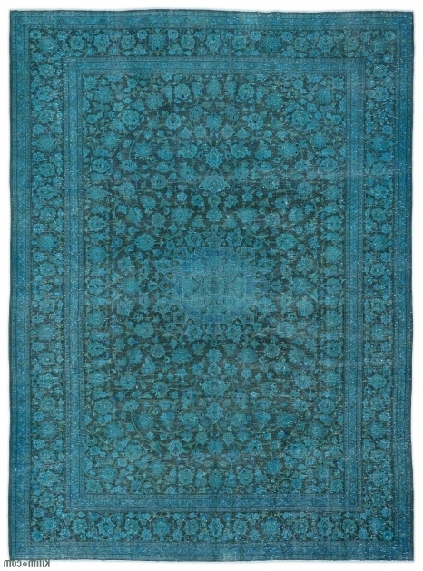 Turquoise Overdyed Persian Rugs Vintage Photos 64