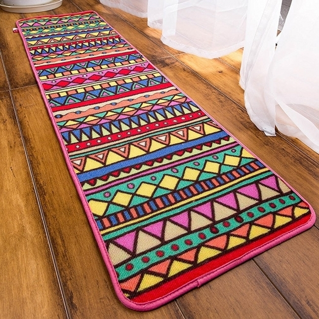Washable Rug Runners Bathroom Ethnic Style Geometric Ideas Image 57