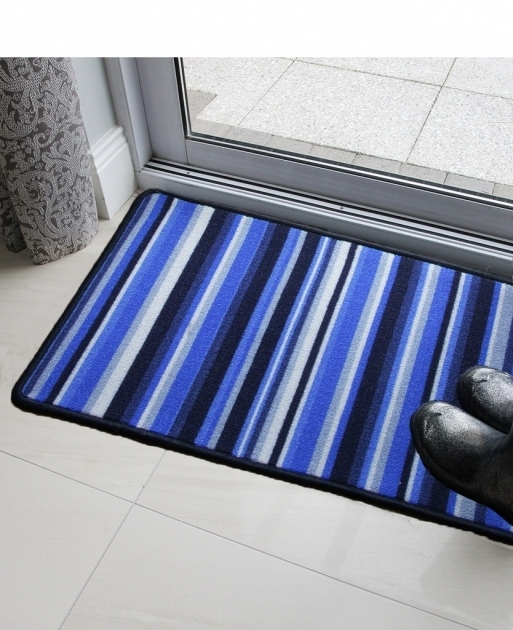 Washable Rug Runners LUNA BLUE STRIPES RUNNER Modern Rugs Door Photos 65