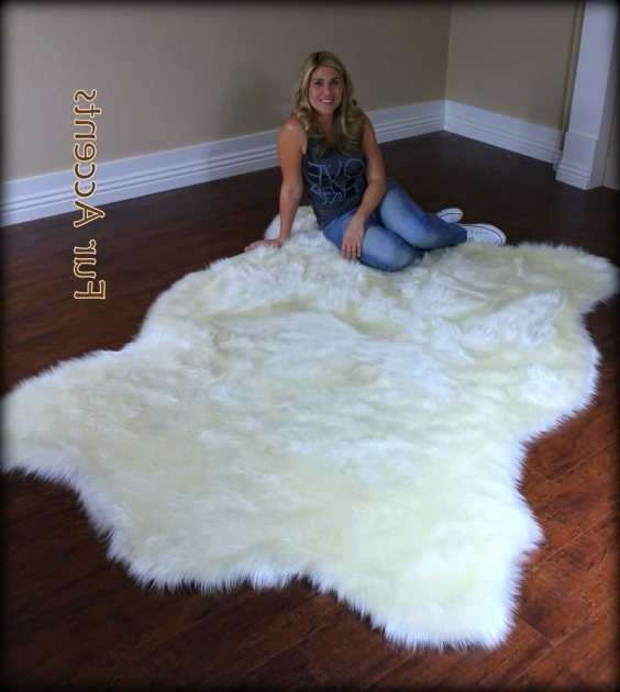 White Fluffy Rugs Animal Large Faux Sheepskin Rug Photo 31