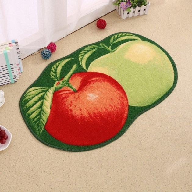 Apple Rugs For Kitchen Lopkey Microfiber Non Slip Water Absorbing Cute Fruits Photos 34
