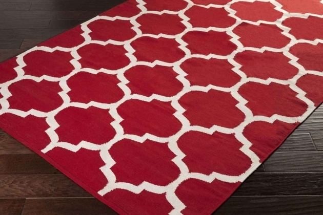 Artistic Weavers Vogue Large Red Area Rug With White Images 21