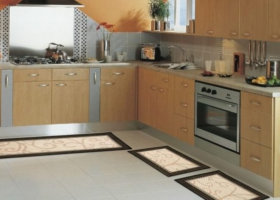 Brown Corner Rugs For Kitchen Decoration On Floor Photo 44