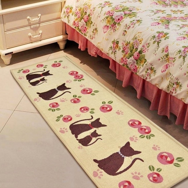 Cheap Runner Rugs Rose Kitty Fabric Non Slip Bedroom Pictures 41