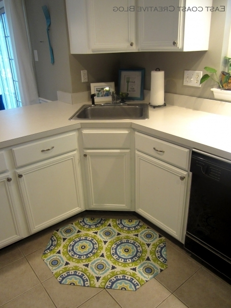 Corner Rugs For Kitchen Diy Fabric Floorcloth Picture 02