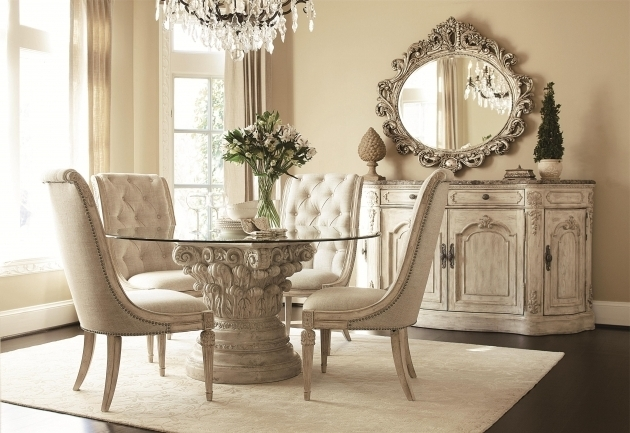 Cream Carving Wooden Base Rugs Under Kitchen Table With Round Glass Top Combined Photo 83