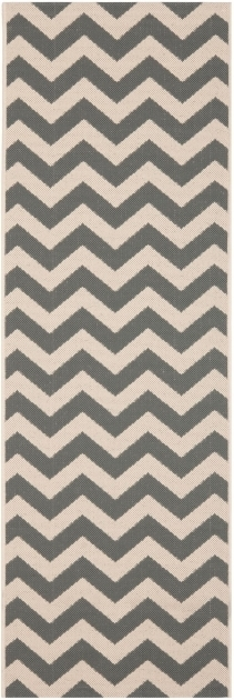 Grey And Beige Chevron Outdoor Rug Runners Carpet Safavieh Photo 03