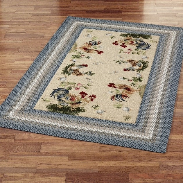 Grey Rooster Rugs For The Kitchen Area Kitchen Decor Picture 85