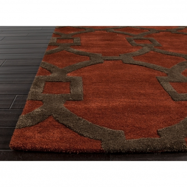 Large Red Area Rug And Brown Picture 60