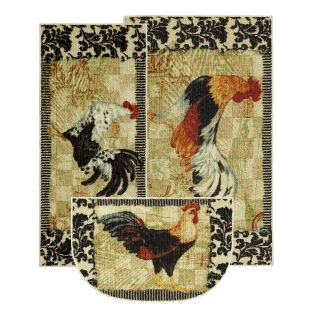 Mohawk Home New Wave 3 Piece Kitchen Rug Set Bergerac Rooster Area Rug  Pictures 19