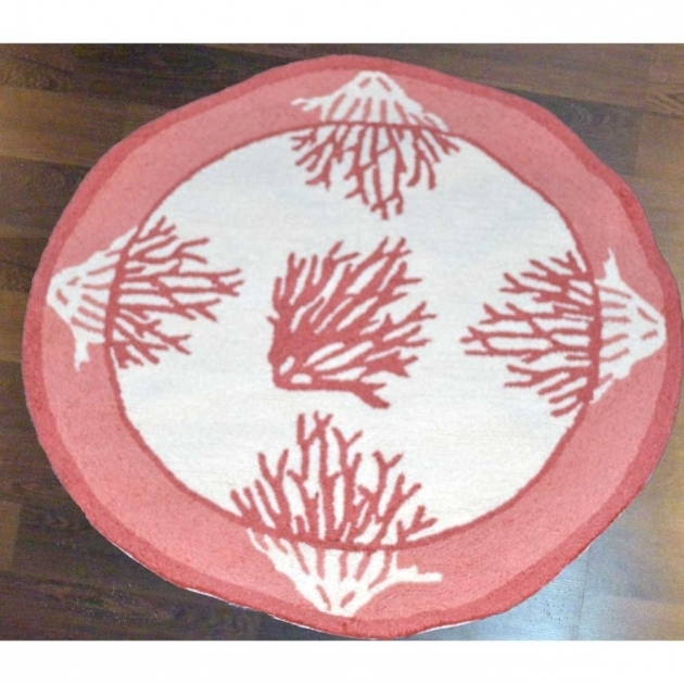Round Machine Washable Kitchen Rugs Coral Photo 51